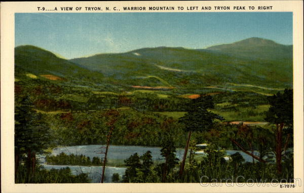a view of Tryon N.C. warrior mountain to left and tryon peak to right Tyron North Carolina