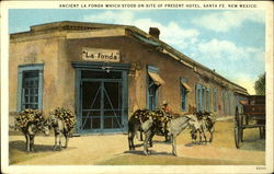 Ancient La Fonda which stood on site of present hotel