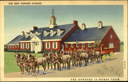 The New Genesee Stables Postcard