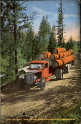 Hauling fine logs in the scenic Pacific Northwest