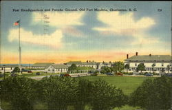 Post Headquarters and Parade Ground, Old Fort Moultrie, Charleston, S.C. T28