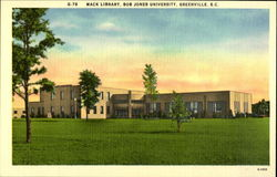 Mack Library, Bob Jones University, Greenville, S.C Postcard