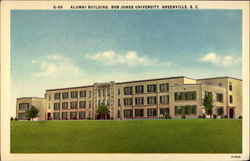 Alumni Building, Bob Jones University Postcard