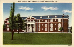 NG-4 Chipley Hall, Lander College, Greenwood, S.C Postcard