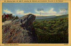 Blowing Rock, Alt. 4000 Ft. showing Mt. Mitchell and Grandfather Mountain in the Distance