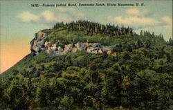 Famous Indian Head, Franconia Notch, White Mountains, NH