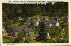 Le Conte lodge on Mount Le Conte, Great Smoky Mountains National Park