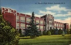 Senior High School, Gastonia, N. C Postcard