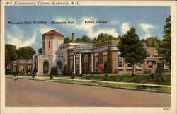 Community Center, Gastonia, N.C Postcard