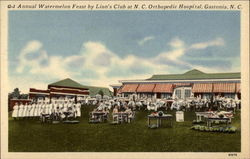 Annual Watermelon Feast by Lion's Club at NC Orthopedic Hospital Postcard