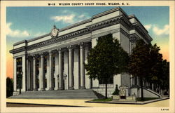 Wilson County Court House Postcard