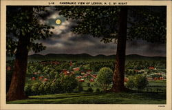 Panoramic view of Lenior, N.C. by night