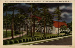 Night Scene Howard Chapel and Kinsey Hall, Atlantic Christian College