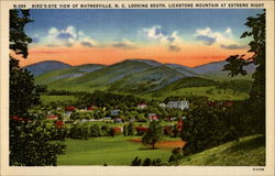 Bird's-Eye View of Waynesville, N. C. Looking South, Lickstone Mountain at Extreme Right