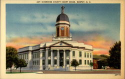 Cherokee County Court House Postcard