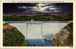 Hiwassee Dam and Power House by night