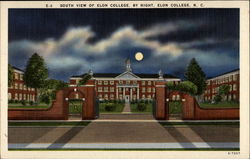 South View of Elon College. By Night