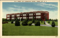 Forest City Elementary School Postcard