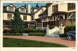 Front Entrance of Bonclarken Hotel Postcard