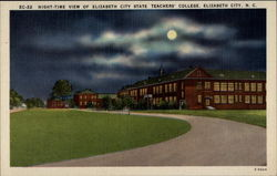 Night-Time View of Elizabeth City State Teachers' College