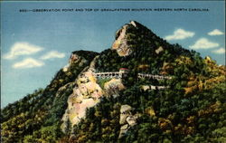 Observation Point and Top of Grandfather Mountain Postcard