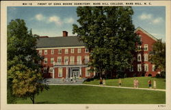 Front of Edna Moore Dormitory. Mars Hill College