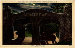 Night-Time Scene of Entrance Gate to Montreat, N. C