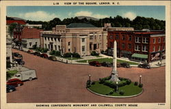 L-18 View of the Square, Lenoir, N.C