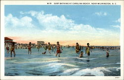 Surf-Bathing at Carolina Beach, Near Wilmington, N. C