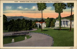 Sunrise Scene, College Hall and Abbott Hall