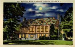 Moonlight Scene of Country Clubhouse