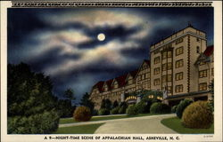 Night-Time Scene of Appalachian Hall, Asheville, N.C