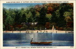Bathing Beach at Cliffside Lake, Nantahala National Forest