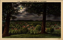 Panoramic View of Lenoir, N. C. by Night