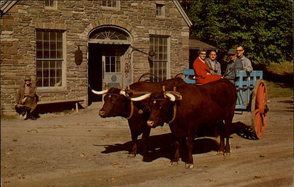 Oxen and Blacksmith Shop Cooperstown New York