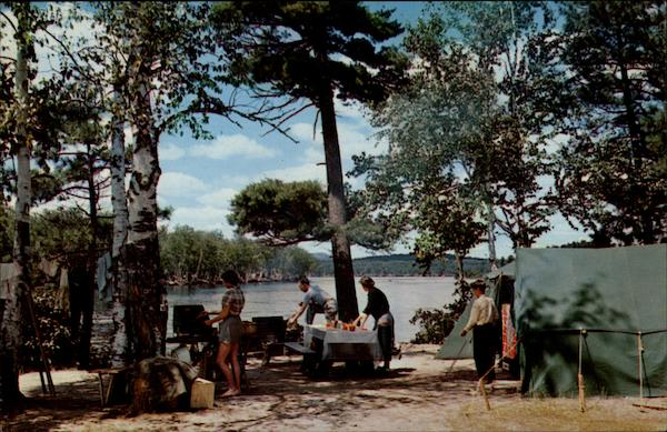 Camp Scene at Fish Creek Lake Placid New York