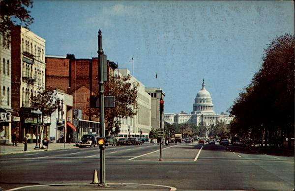 Pennsylvania Avenue showing the U.S. Capitol Washington District of Columbia