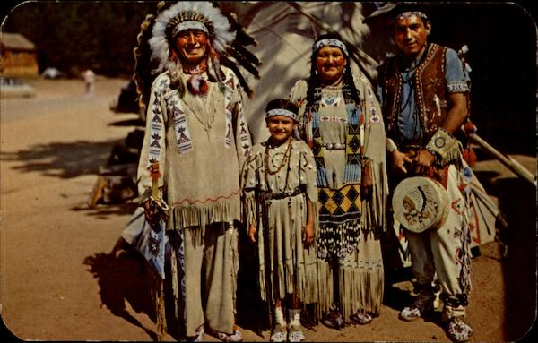 Chief Running Horse and Family Native Americana
