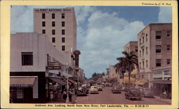 Andrews Ave. Looking North from New River, Fort Lauderdale, Fla Florida