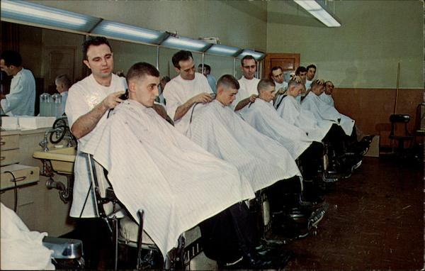 United States Naval Training Center - Barber Shop Great Lakes Illinois
