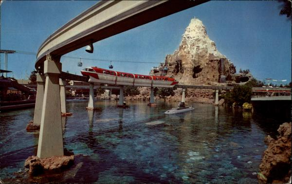 Monorail System In Disneyland Anaheim California