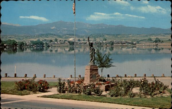 Boy Scout Monument and Lake Loveland Colorado