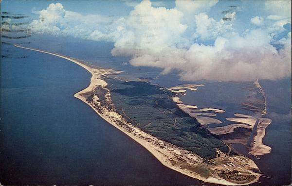 Aerial View of Dauphin Island Alabama