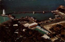 Aerial view of Davis Marathon Motel and Docks
