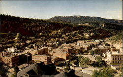 Birdseye view of Deadwood, South Dakota Postcard