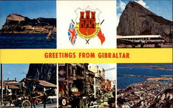 Greetings From Gibraltar Postcard