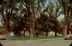 Historic tree-shaded Dover Green