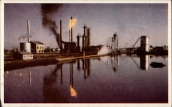 First cooperative refinery in the United States Postcard