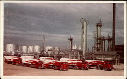 Co-op Transports Lined Up at the Cooperative Refinery