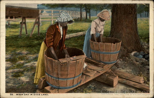Wash day in Dixie Land Black Americana